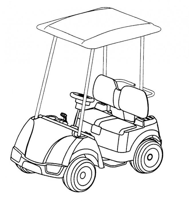 Coloriage et dessins gratuits Voiturette de Golf à imprimer