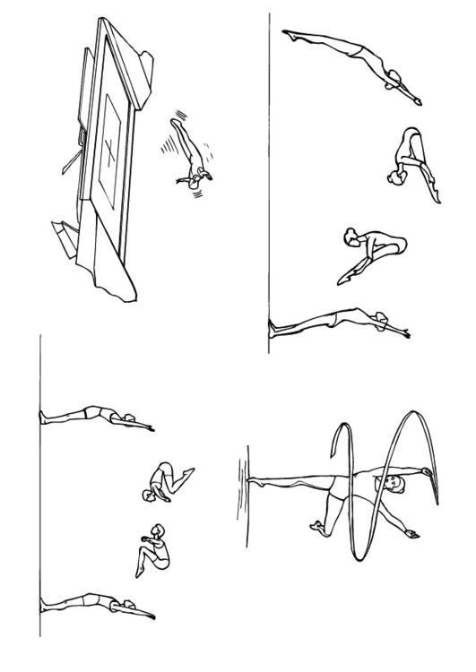 Coloriage et dessins gratuits Activités de Gymnastique à imprimer