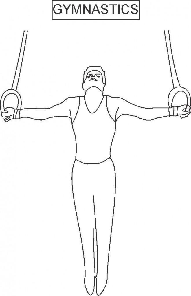 Coloriage et dessins gratuits Anneaux en Gymnastique au crayon à imprimer