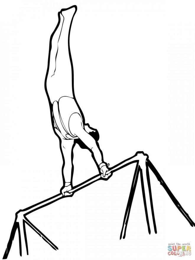 Coloriage et dessins gratuits Barres  en gymnastique à imprimer