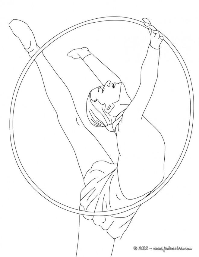 Coloriage et dessins gratuits Cercle en Gymnastique à imprimer