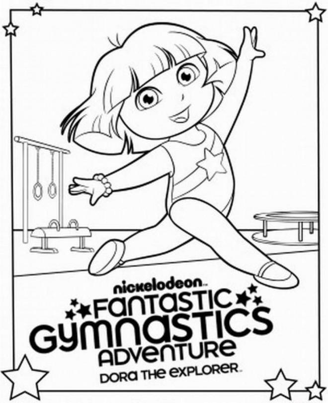 Coloriage et dessins gratuits Dora aime La Gymnastique à imprimer