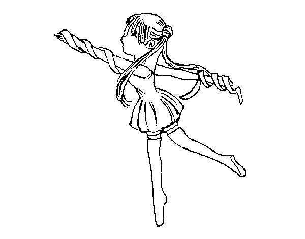 Coloriage et dessins gratuits Fille gymnaste magnifique à imprimer
