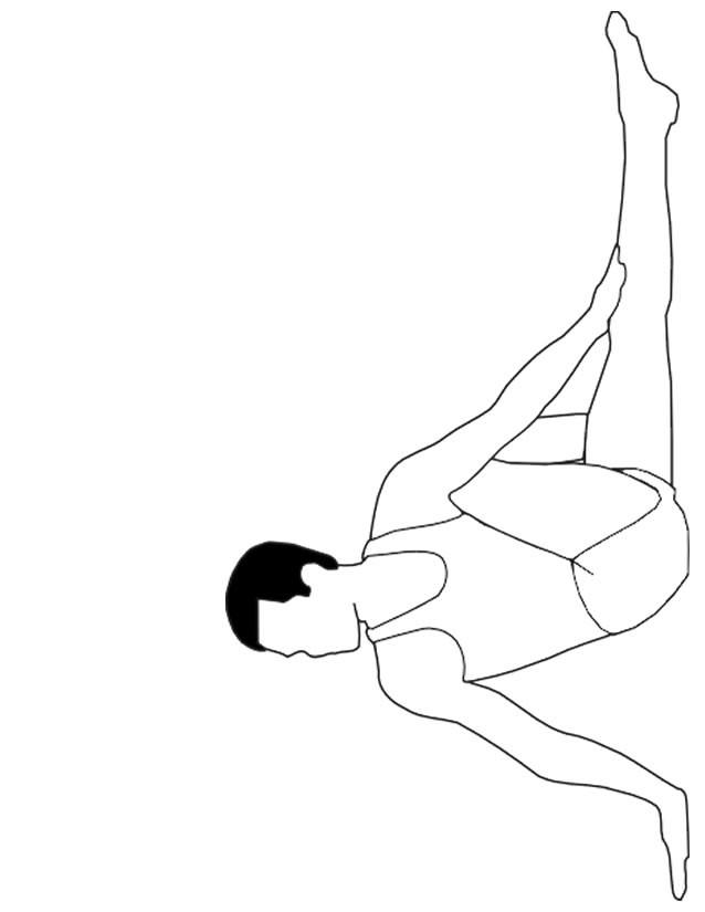 Coloriage et dessins gratuits Gymnaste à compléter à imprimer