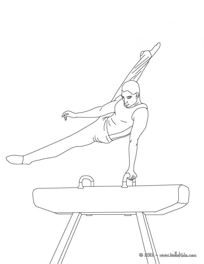Coloriage et dessins gratuits Gymnaste adulte poutre à imprimer