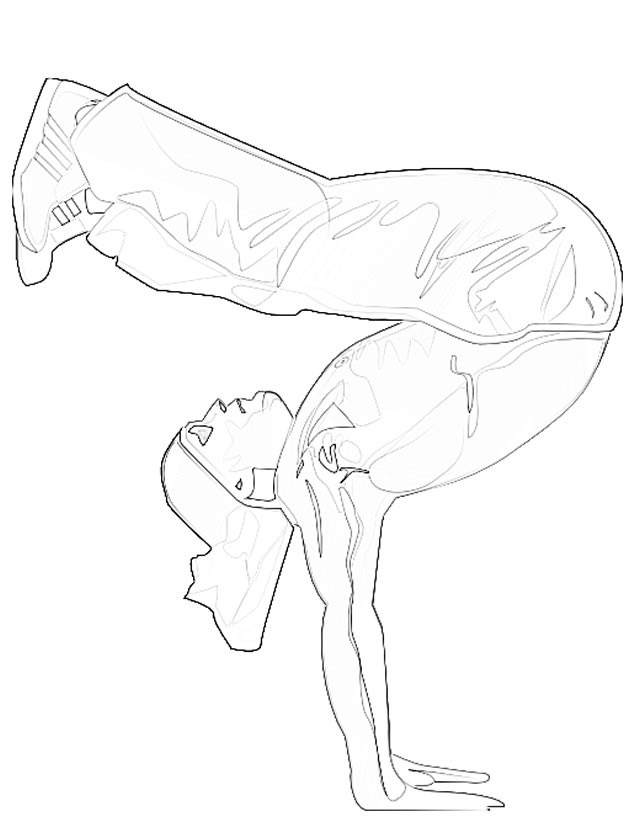 Coloriage et dessins gratuits Gymnaste Freestyle à imprimer