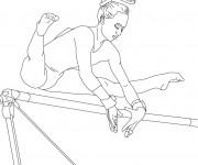 Coloriage dessin  Gymnastique 1