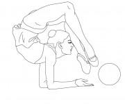 Coloriage dessin  Gymnastique 10
