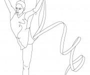 Coloriage dessin  Gymnastique 17