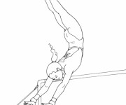Coloriage dessin  Gymnastique 19