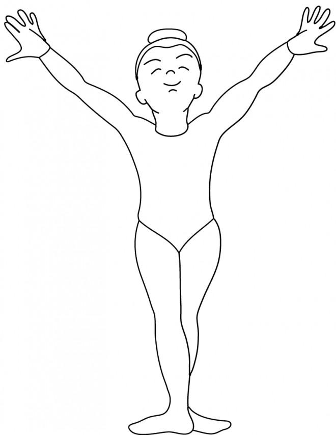 coloriage gymnastique 26 gratuit à imprimer en ligne