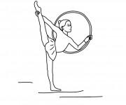 Coloriage dessin  Gymnastique 3