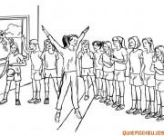 Coloriage Gymnastique à l'école