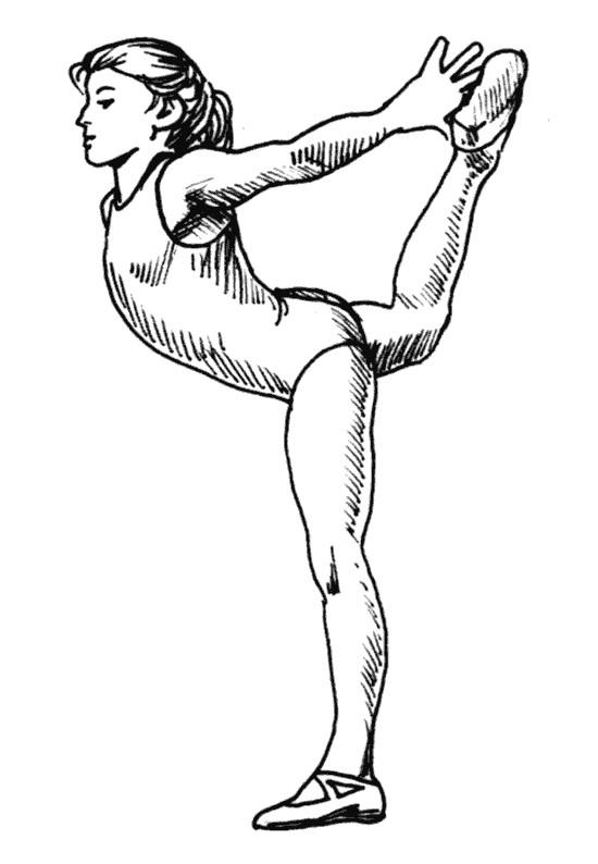 Coloriage et dessins gratuits Gymnastique au crayon à imprimer