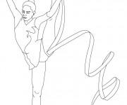 Coloriage et dessins gratuit Gymnastique au sol rythmique à imprimer
