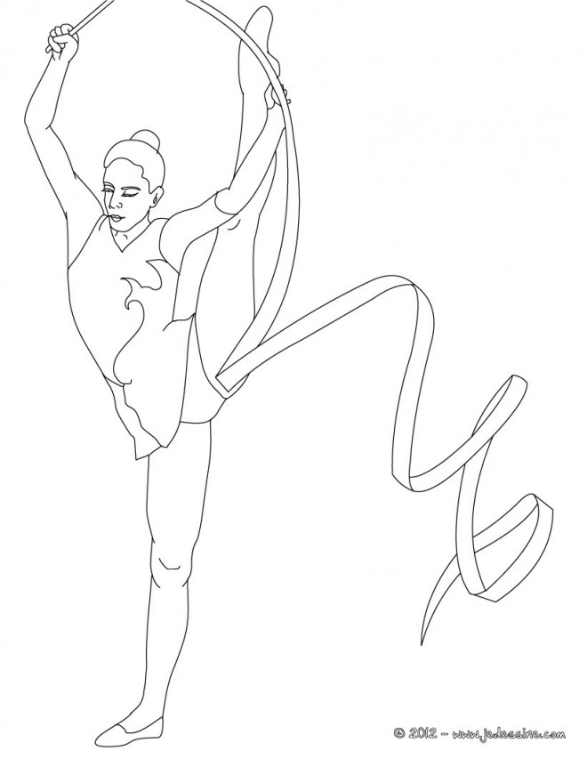 Coloriage et dessins gratuits Gymnastique au sol rythmique à imprimer