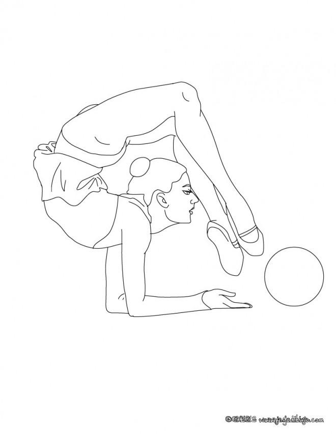 Coloriage et dessins gratuits Gymnastique Ballon à imprimer