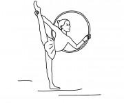 Coloriage Gymnastique de Cercle