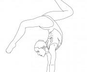 Coloriage et dessins gratuit Gymnastique en couleur à imprimer