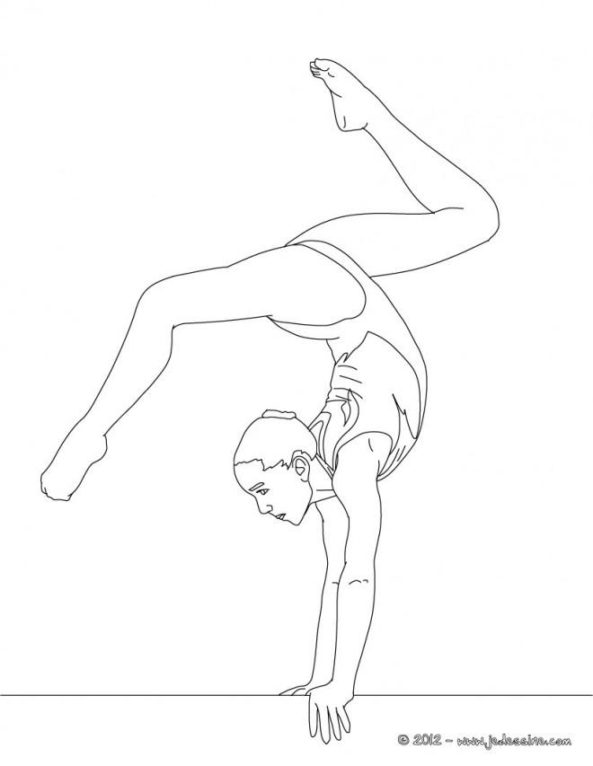 Coloriage et dessins gratuits Gymnastique en couleur à imprimer