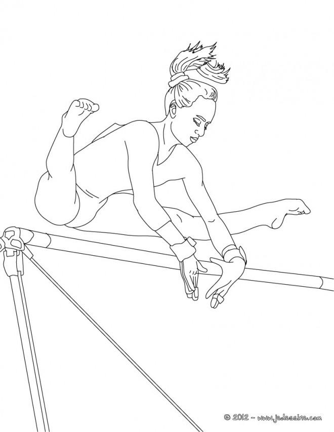 Coloriage et dessins gratuits Gymnastique et Barre à imprimer