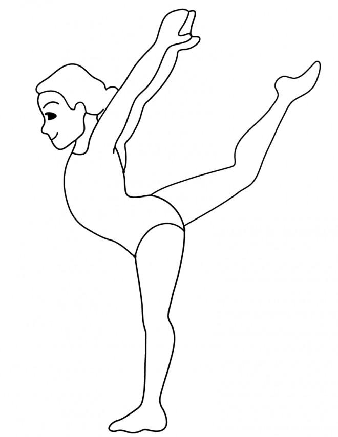 Coloriage et dessins gratuits Gymnastique facile à imprimer