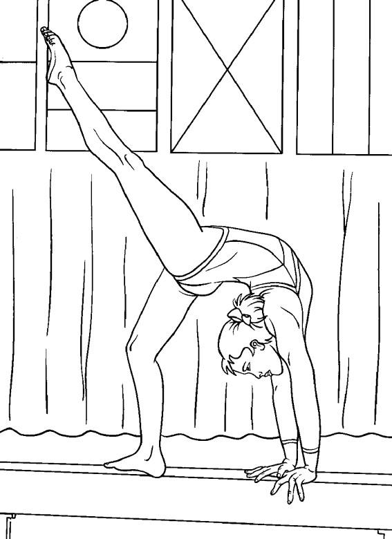 Coloriage et dessins gratuits Gymnastique maternelle à imprimer