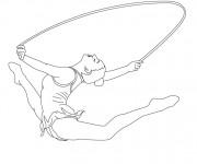 Coloriage Gymnastique rythmique corde