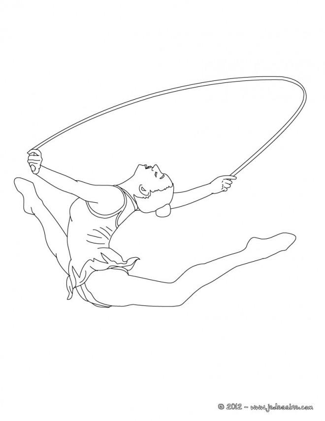 Coloriage et dessins gratuits Gymnastique rythmique corde à imprimer