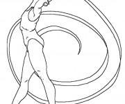 Coloriage Gymnastique rythmique stylisé