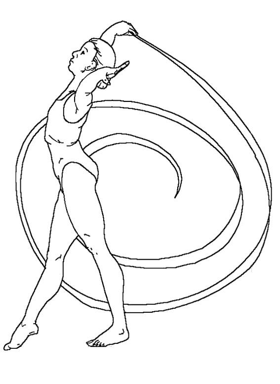Coloriage gymnastique rythmique stylis dessin gratuit - Dessin de grs ...