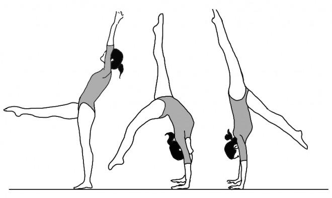 Coloriage et dessins gratuits Gymnastique souplesse à imprimer