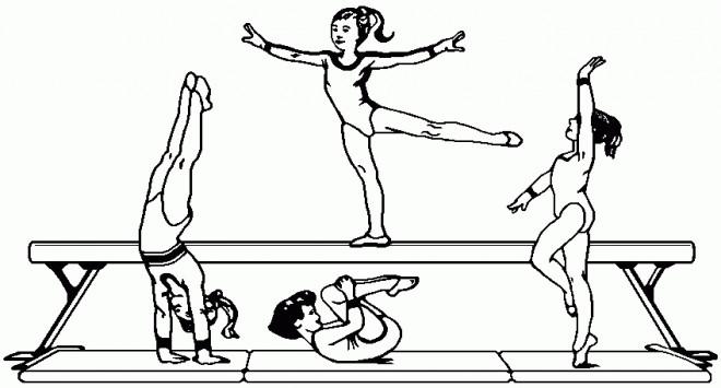 Coloriage l 39 encha nement gymnastique dessin gratuit imprimer - Coloriage gym ...