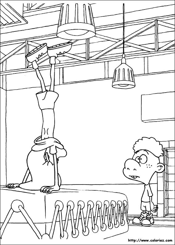 Coloriage et dessins gratuits La Gymnaste dessin animé à imprimer