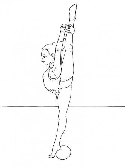 Coloriage et dessins gratuits La Gymnaste et le ballon à imprimer