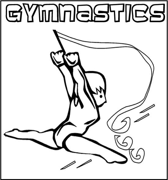 Coloriage et dessins gratuits La Gymnastique rythmique pour enfant à imprimer