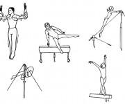 Coloriage Sport de Gymnastique