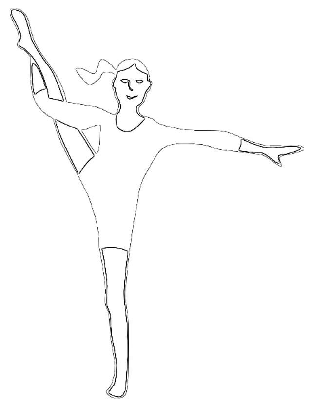 Coloriage une gymnaste souple dessin gratuit imprimer - Coloriage gym ...