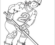 Coloriage Hockey