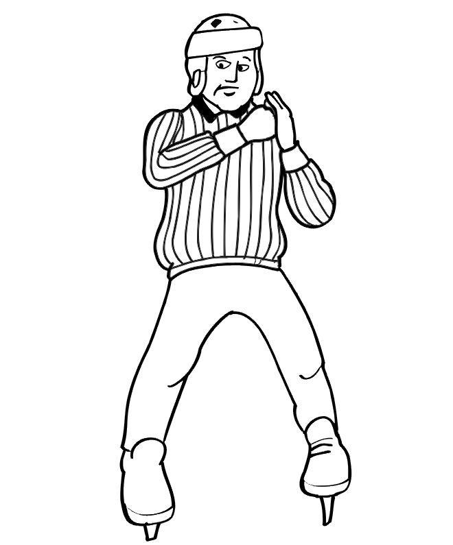 Coloriage arbitre de hockey sur glace dessin gratuit imprimer - Dessin hockey sur glace ...