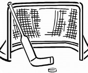 Coloriage et dessins gratuit Cage de Hockey sur Glace à imprimer