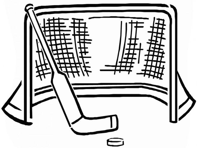 Coloriage et dessins gratuits Cage de Hockey sur Glace à imprimer