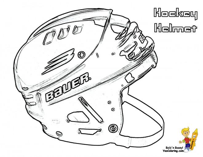 Coloriage et dessins gratuits Casque de Hockey pour enfant à imprimer