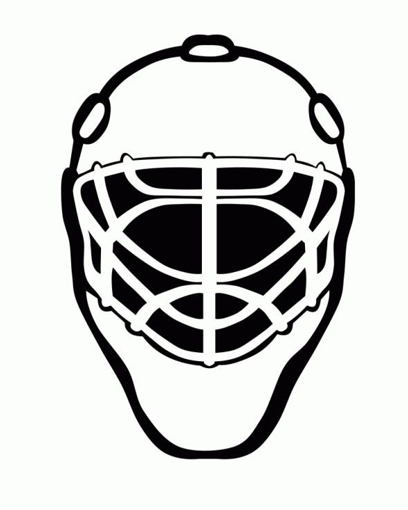 Coloriage et dessins gratuits Casque de Hockey vecteur à imprimer