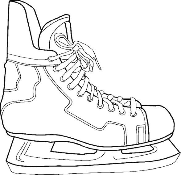 Coloriage et dessins gratuits Chaussures de Hockey à imprimer
