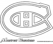 Coloriage et dessins gratuit Équipe de Hockey Montreal Canadiens à imprimer