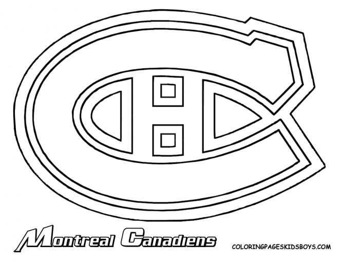 Coloriage et dessins gratuits Équipe de Hockey Montreal Canadiens à imprimer