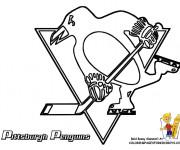 Coloriage Equipe de Hockey Pittsburgh Penguins