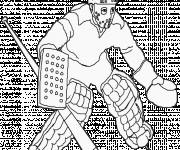 Coloriage et dessins gratuit Gardien de Hockey à imprimer