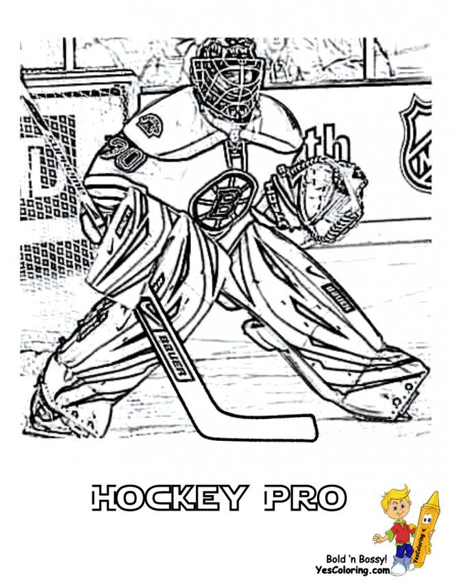 Coloriage gardien hockey r aliste dessin gratuit imprimer - Gardien de but dessin ...